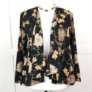 Audrey 3+1 Floral Kimono Style Cropped Cardigan